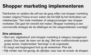 Shopper marketing implementeren